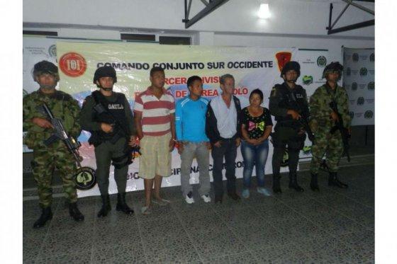 Capturan a cuatro presuntos guerrilleros en El Tambo, Cauca