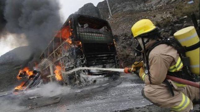 Incendio en centro experimental de la vía Pradera-Candelaria