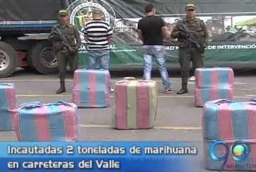 Policía incautó dos toneladas de marihuana en el Valle