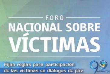 Fijan reglas para participación de las víctimas en diálogos de paz