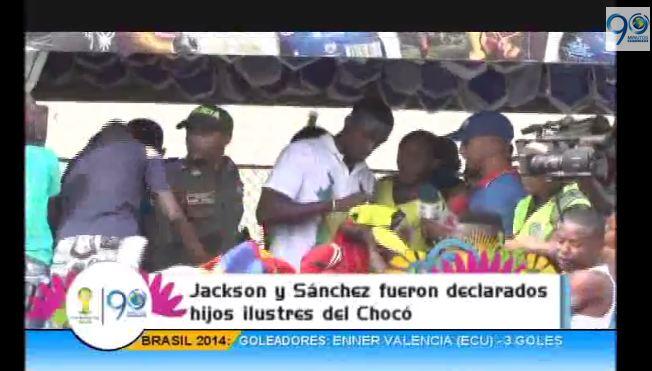 Jackson Martínez y Carlos Sánchez fueron declarados hijos ilustres de Chocó