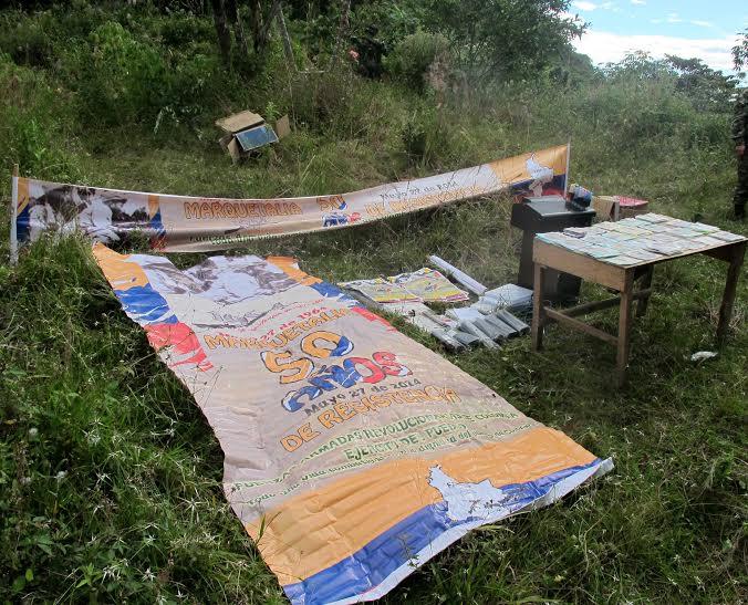 Imprenta clandestina de las Farc desmantelada en el Valle