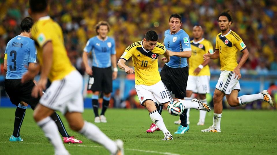 Gol de James ante Uruguay es el mejor del Mundial de Brasil