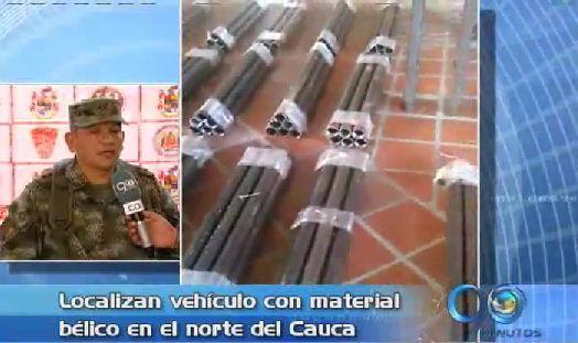 Ejército incautó material bélico en Corinto, Cauca