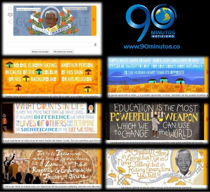 Google homenajea a Nelson Mandela con su 'doodle'  de hoy