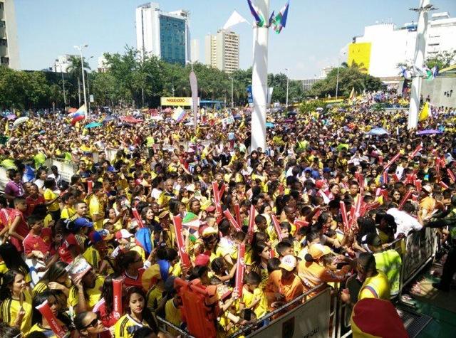 Más de seis mil caleños recibieron a jugadores de la Selección