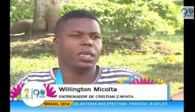 El primer entrenador de Cristian Zapata relata su historia