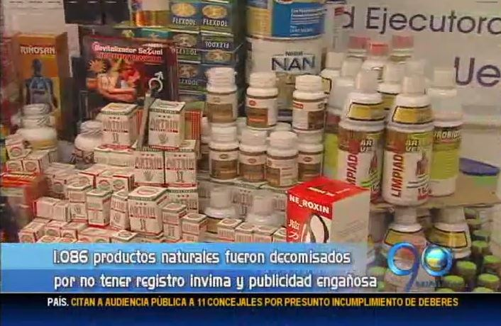 Secretaría de Salud de Cali decomisó más de mil productos naturistas