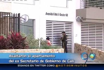 Asaltaron el apartamento del ex Secretario de Gobierno de Cali