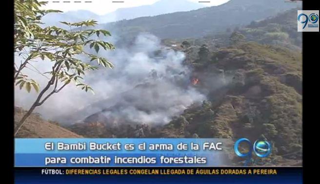 Fuerza Aérea adelanta simulacro de control de incendios