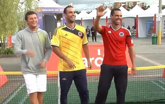 Tenistas colombianos también saben bailar salsa choque