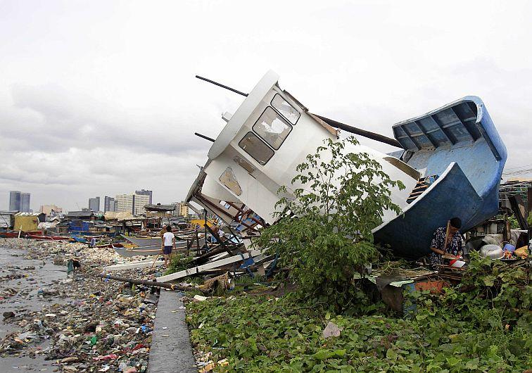 Por tifón Rammasun han muerto 40 personas en Filipinas