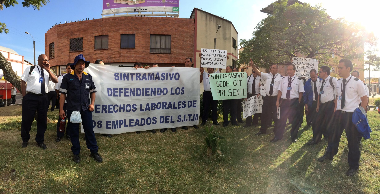Trabajadores de Unimetro y GIT Masivo marcharon hasta el CAM