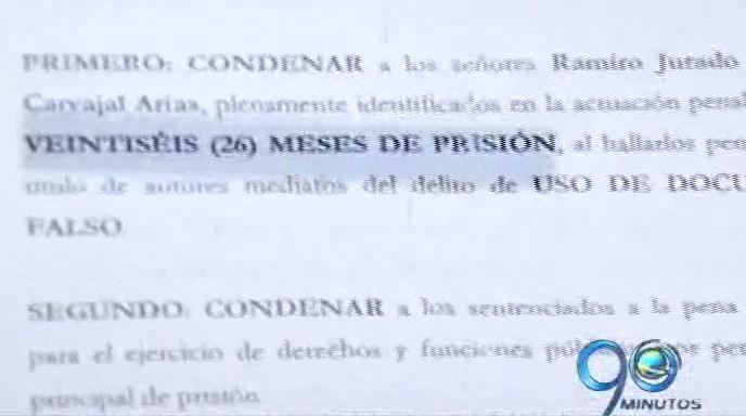 Condenan a representante legal de Coomoepal por falsedad en documento público