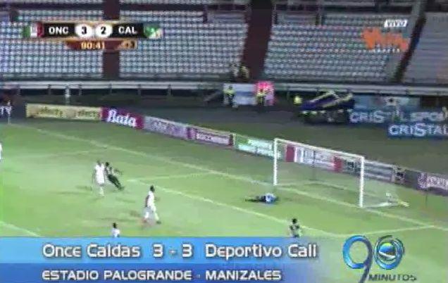 Deportivo Cali logró un valioso con Once Caldas en Manizales