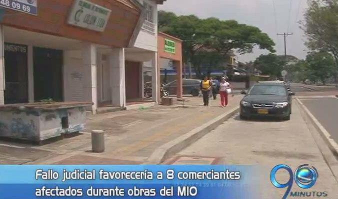 Comerciantes afectados por obras del MÍO ganaron demanda al Municipio