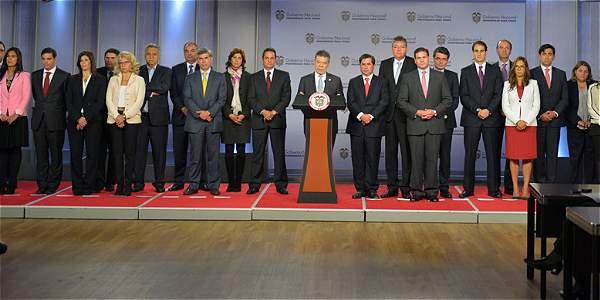 Juan Manuel Santos dio a conocer su nuevo gabinete