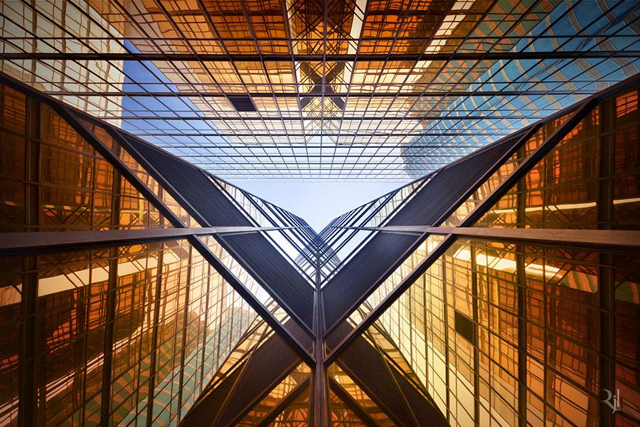 Fotografias verticalmente asombrosas de rascacielos en Hong Kong