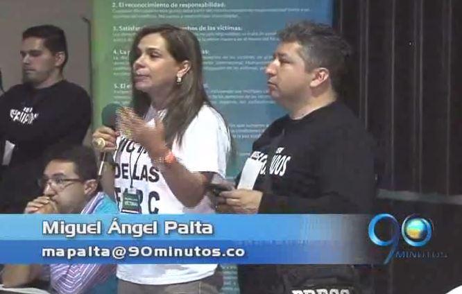Para Ángela Giraldo, el encuentro de víctimas con las Farc fue fructífero