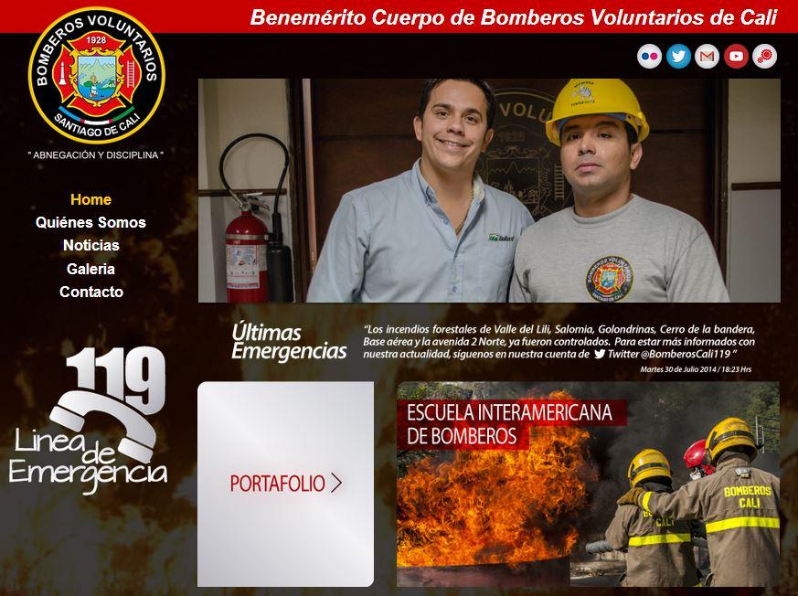 Bomberos de Cali lanzaron su nuevo portal web