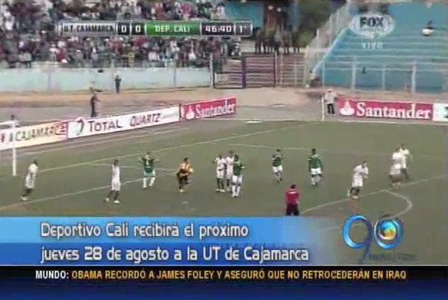 Deportivo Cali logró un punto de visitante ante UT Cajamarca