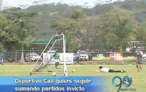 Deportivo Cali prepara su partido ante UT de Cajamarca