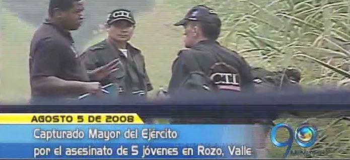 Capturado Mayor del Ejército acusado del asesinato de 5 jóvenes en Rozo