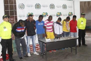 Policía capturó siete integrantes de la banda 'La Loma' en Candelaria