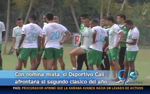 Deportivo Cali enfrentará el clásico con nómina mixta