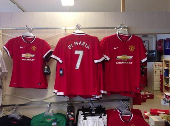 La camiseta de Di María ya está en las tiendas del Manchester United