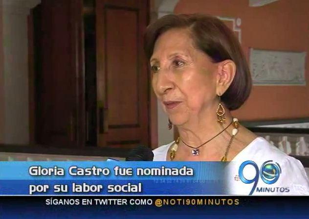 Gloria Castro fue nominada a premio por su labor cultural y social