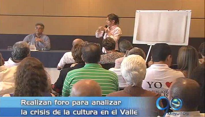 Se realizó foro para debatir la crisis de la cultura en el Valle