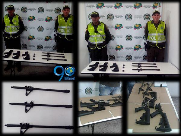 Tres fusiles fueron incautados en la Terminal de Transportes de Cali