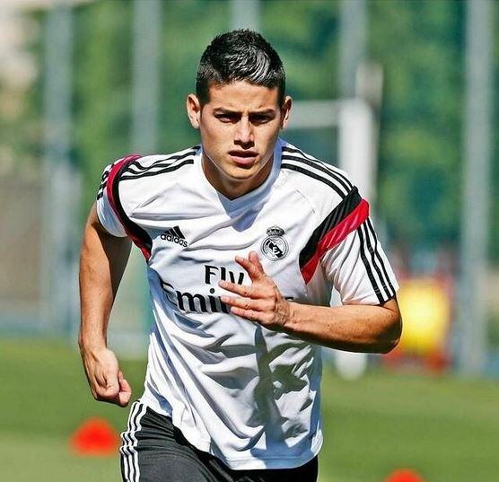 James Rodríguez inició su entrenamiento en el Real Madrid
