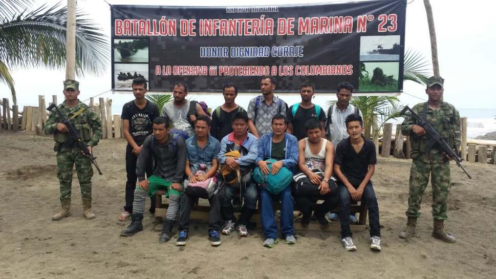 Armada Nacional halló 12 migrantes ilegales  en el Chocó