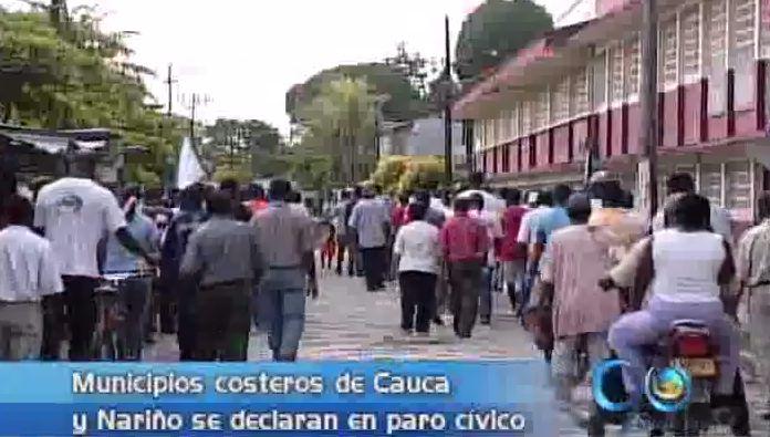 Municipios costeros de Cauca y Nariño se declaran en paro cívico
