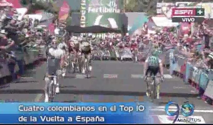 Nairo Quintana continúa segundo en la Vuelta a España