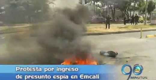 Trabajadores de Emcali protestaron por presunto espía