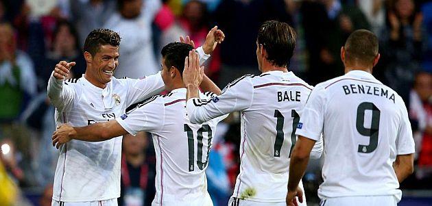 James, presente en el primer título de la temporada del Real Madrid