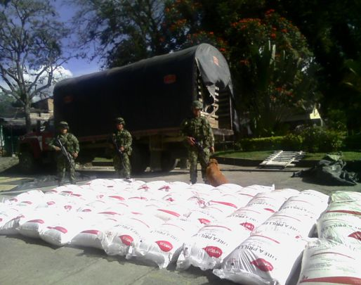 Incautado material explosivo a las Farc en el municipio de Inzá, Cauca