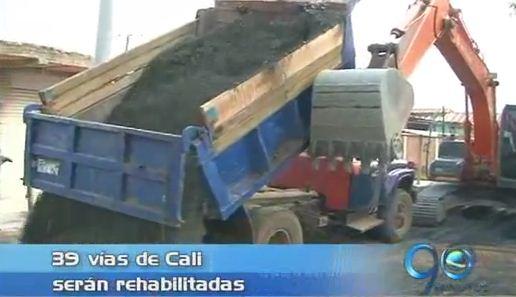 Secretaría de Infraestructura rehabilitará 39 vías de Cali