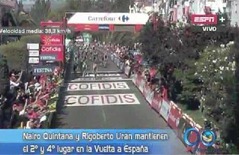 Nairo y Rigoberto conservan sus posiciones en la Vuelta a España