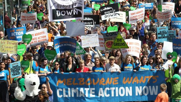 El mundo marcha por el clima: ¡Acción, no palabras!