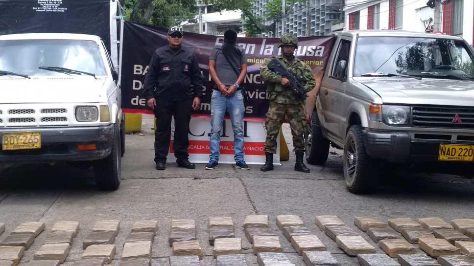 Capturan hombre que transportaba marihuana en el sur del Valle