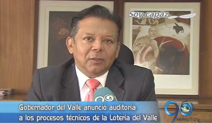 Gobernador anunció auditoría contra la Lotería del Valle