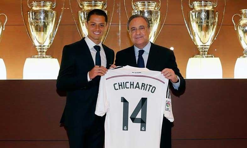 El mexicano 'Chicharito' Hernández firmó con el Real Madrid