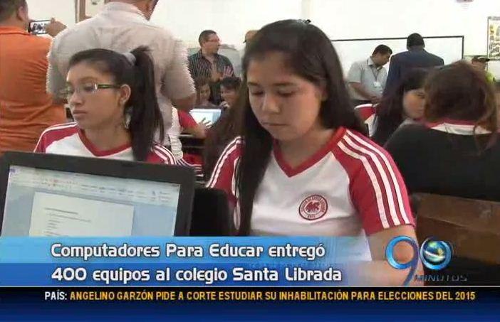Colegios de la ciudad recibieron 400 computadores