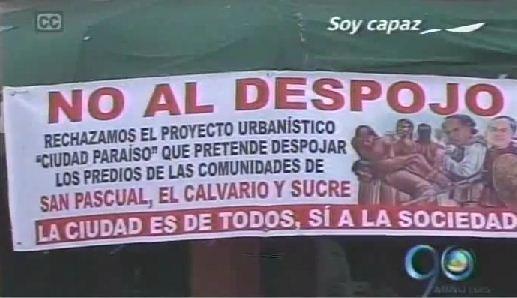Habitantes de San Pascual se niegan a desalojar su barrio
