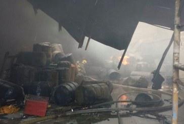 Incendio en fábrica del norte de Cali, cerca al Inem