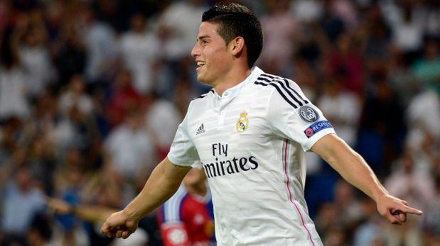James está satisfecho con el partido de este martes con el Real Madrid